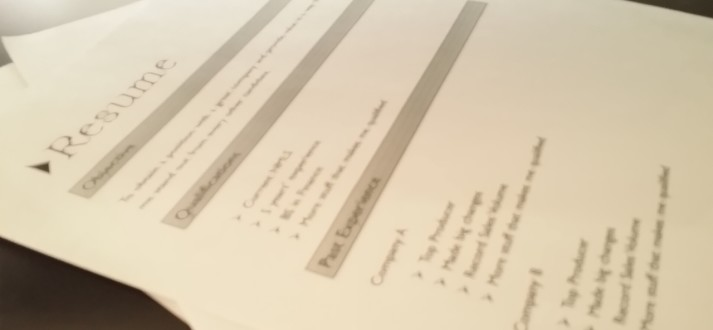cv or resume FI